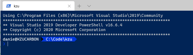 Starting powershell prompt at given directory