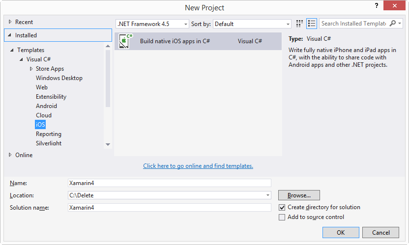 Installing Xamarin for Visual Studio 2015 Preview