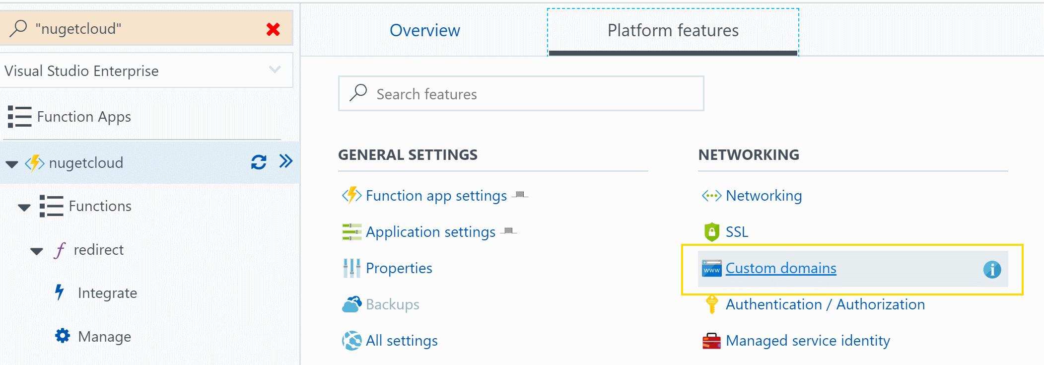 configure custom domain