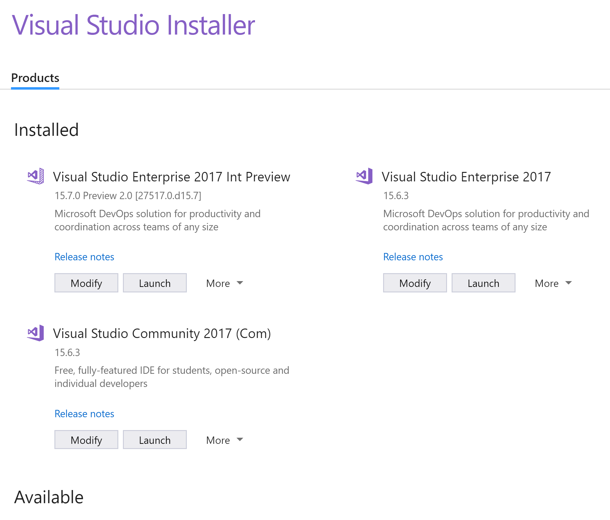 How To Install and Cleanup Visual Studio 2017 Instances