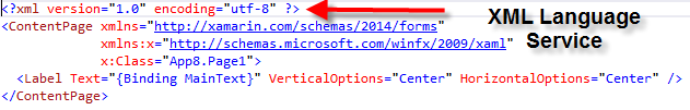 XML language service